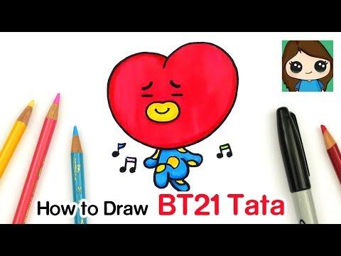how-to-draw-bt21-tata-|-bts-v-persona