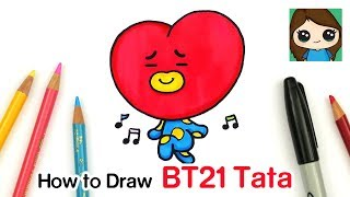 How to Draw BT21 Tata | BTS V Persona