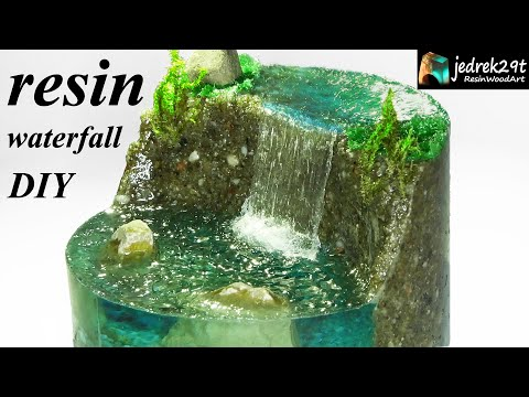 How To Make A Waterfall. Realistic Diorama / RESIN ART