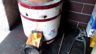 非常用 土管ロケットストーブ 練炭コンロと土管 Rocket stove thumbnail