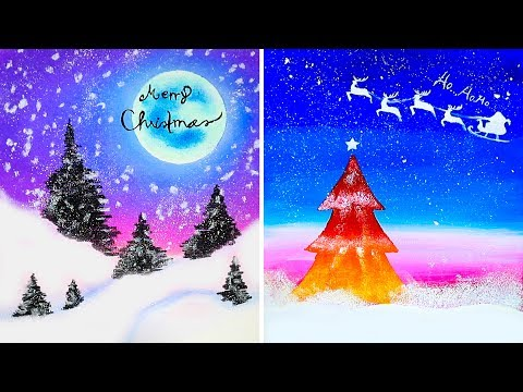 15 Amazing Yet Easy Drawing Tricks For Christmas || Tutorial Drawing