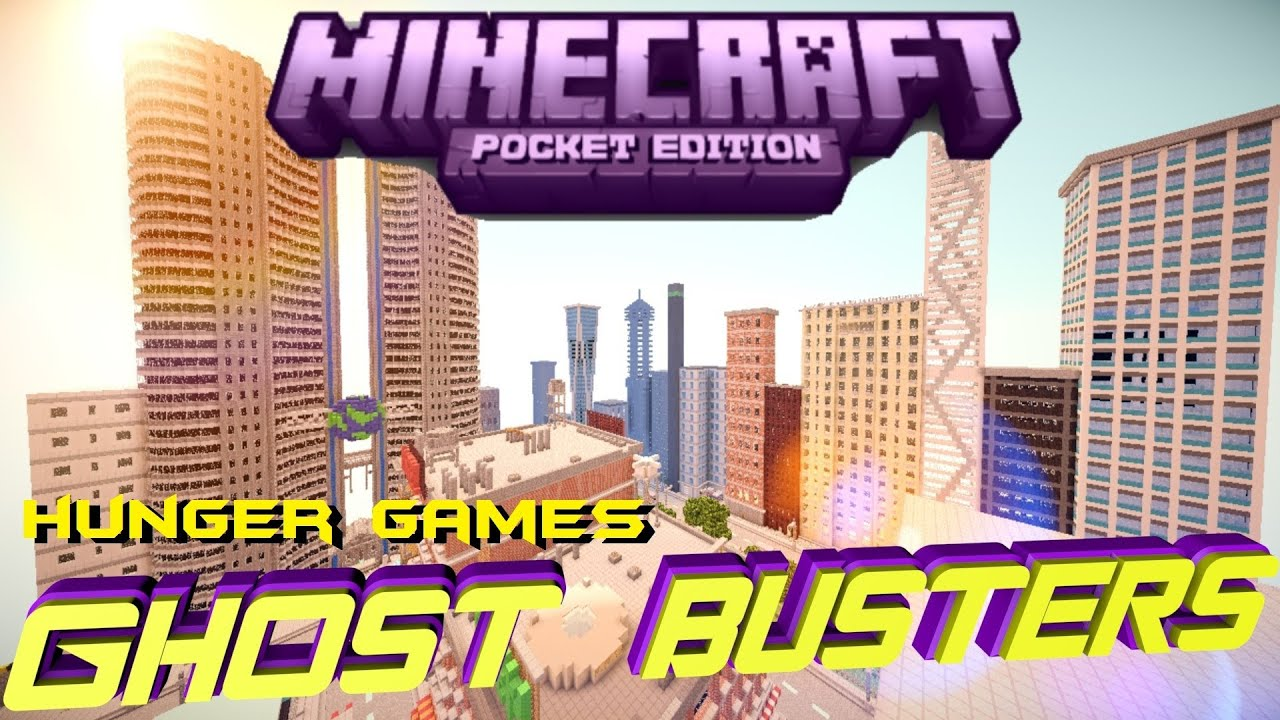Minecraft PE Hunger Games ! [GhostBusters] [DOWNLOAD] - YouTube