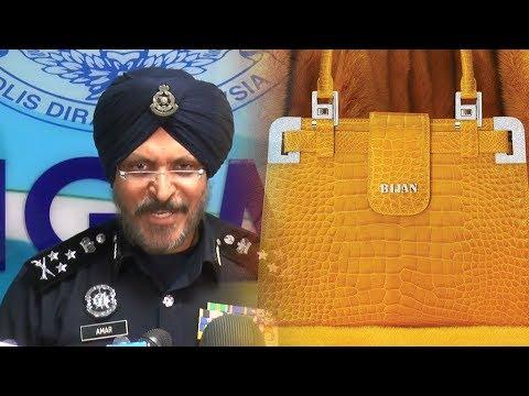 c8027166dc Ultra-luxury Bijan bag seized from Najib-linked condos - YouTube