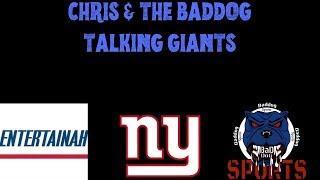 Chris & The Baddog Talkin' Giants. Live Talk Show! Daniel Jones 1st Start Sunday Against Tampa Bay!