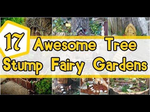 17 Awesome Tree Stump Fairy Gardens