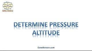 Pressure Altitude