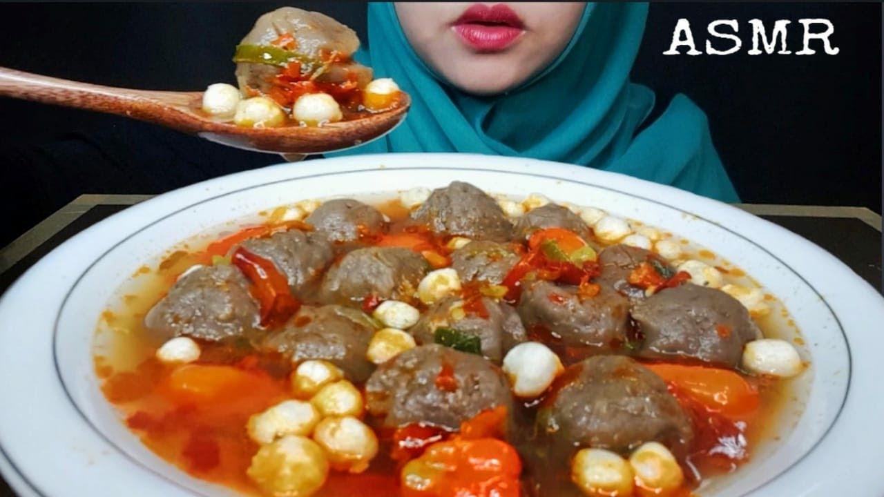 ASMR BAKSO IKAN KUAH CABE 🔥 || Fish Meatballs with Chili Sauce || ASMR INDONESIA