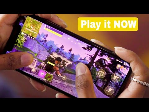 How To Play Fortnite On Android Without Human VERIFICATION - Before Release