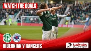 goals hibs beat gers to bite back in promotion race