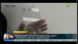 Empresa taiwanesa presentó teléfono celular transparente