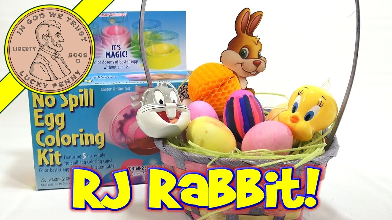 No Spill Easter Egg Coloring Kit Rj Rabbit Approved Youtube