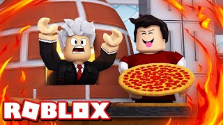 ROBLOX-MY FATHER WENT into the OVEN (Work at a Pizza Place)