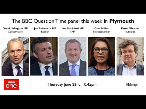 Question Time 22/6/17: No mandate May, Brexit shambles, loser Corbyn, austerity and Grenfell Tower