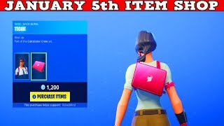 Fortnite Item Shop (January 5th) | *NEW* MAVEN SKIN & TECHIE BACKBLING!