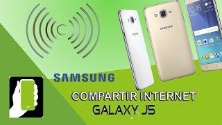 Samsung Galaxy J5  Compartir Internet O Zona WIFI