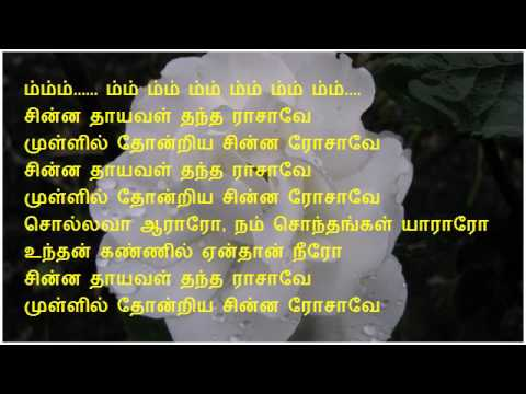 Chinna Thaayaval - Thalapathi (Karaoke)
