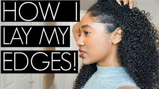 How I Lay My Edges| No Baby Hairs, No Problem!