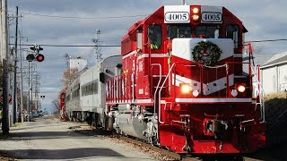 12/2/18 - INRD And CN Christmas Trains In Southern Illinois