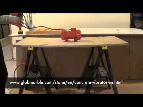 How To Make An Inexpensive Concrete Vibrating Table For Stone