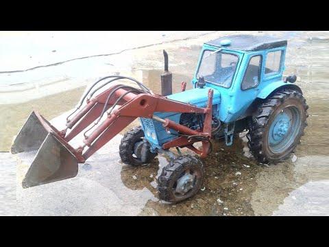 MTZ-52 How To Assemble A Tractor From Paper МТЗ- 52 как собрать трактор из бумаги