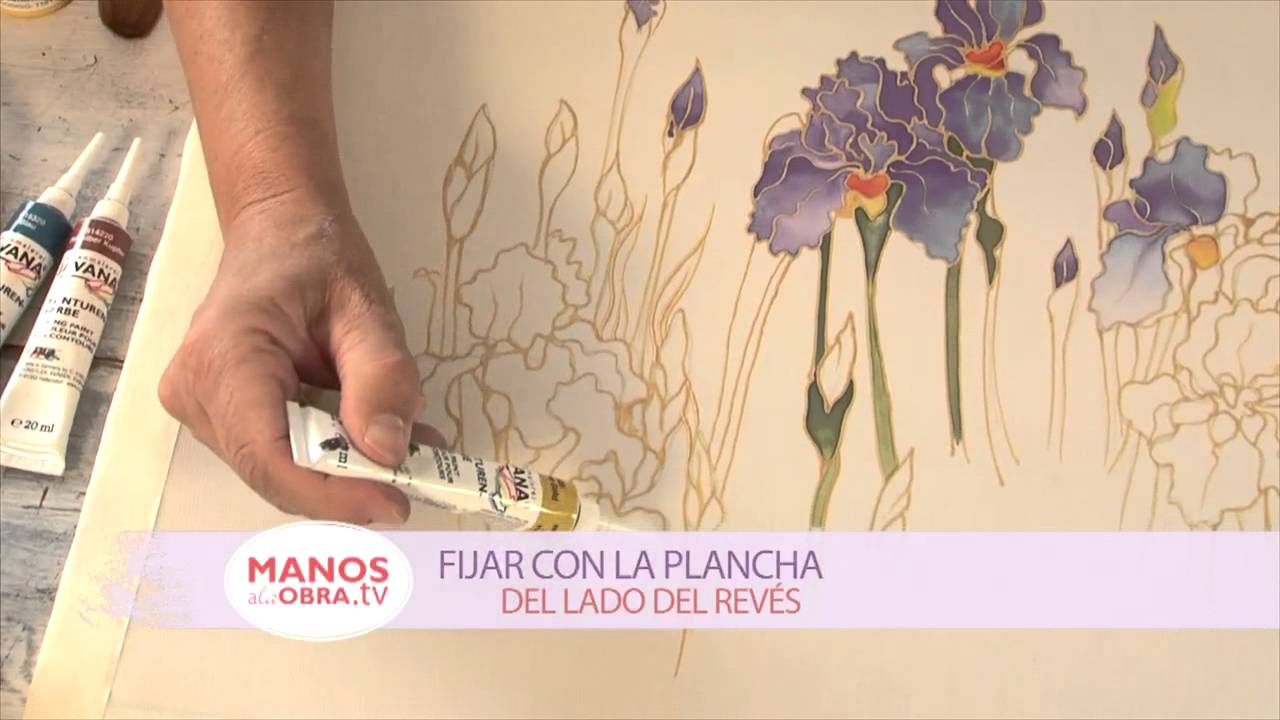 Pintar en seda pinturas para seda guta youtube for Pinturas para pintar