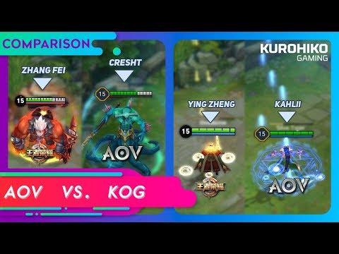 [Part #1] Bukan Plagiat !! AOV vs KOG !!! Arena of Valor vs Kings of Glory