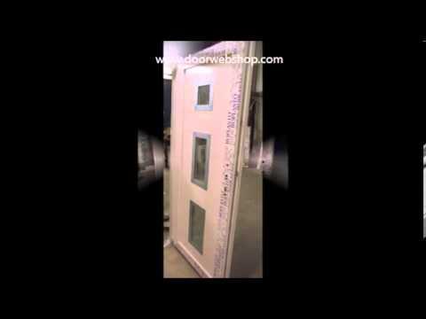 Delta Nebeneingangstur Aus Kunststoff Mit Alu Auflage Youtube