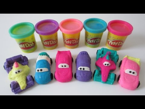 Play Doh Sparkle Disney Pixar Cars 2 Grand Prix Race Mats