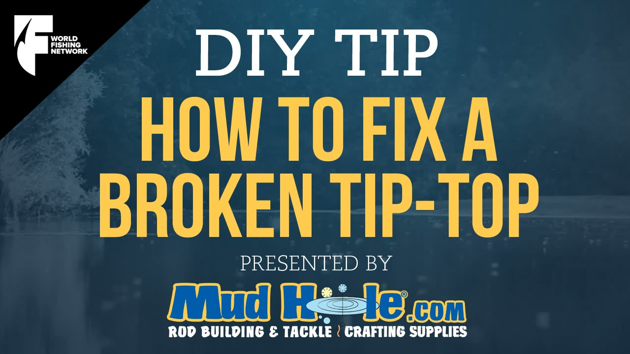 Diy tip how to fix a broken tip top on your fishing rod for How to repair a broken fishing rod
