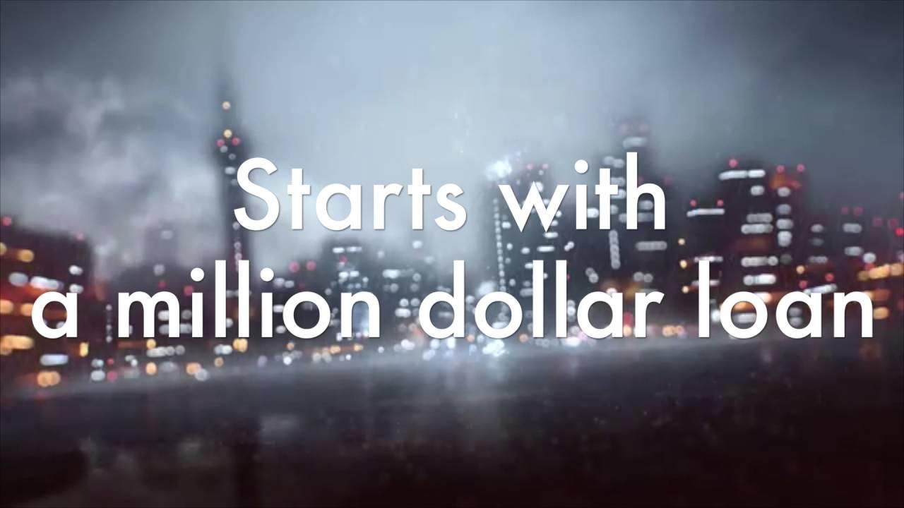 death cab for cutie - million dollar loan lyrics [lyric video