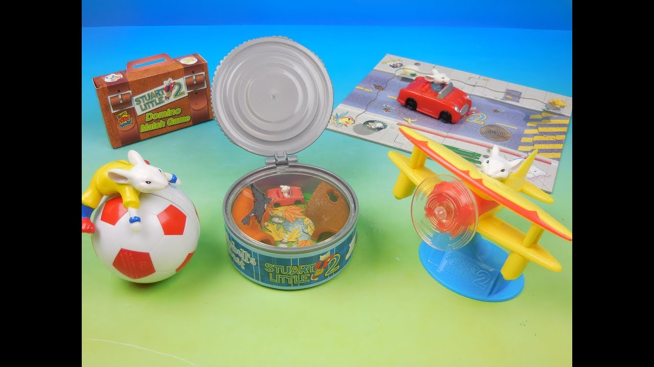 2002 Stuart Little 2 Set Of 5 Wendys Kids Meal Movie Toys Video Review Youtube