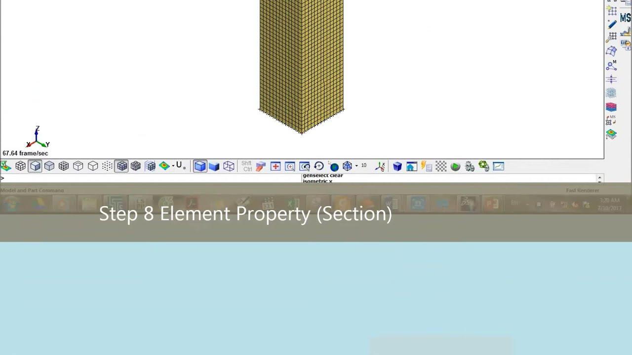 Tutorial LS-DYNA-Square Tube Crash box Finite Element Analysis-