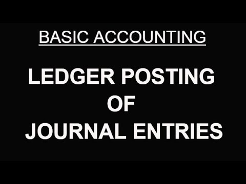 BASIC ACCOUNTING | LEDGER POSTING OF JOURNAL ENTRIES [HINDI]