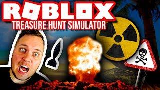 THROWING ATOMIC BOMBS 1000 BLOCKS DOWN! ☢🔥:: Treasure Hunt Simulator Ep. 8-Dansk Roblox