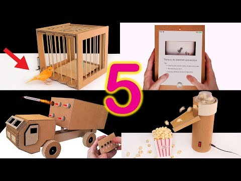 5 Amazing Things You Can Do at Home from Cardboard (Compilation 2020 )