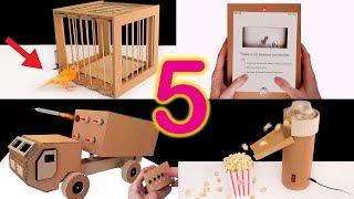 5 Amazing Things You Can Do at Home from Cardboard (Compilation 2019 🔥)