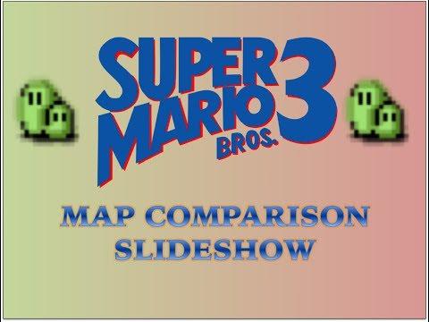 Super Mario Bros 3 Map Comparison Slideshow