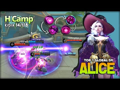 Perfect Mid Lane?! Insane Skill Control Alice by H Camp Top 1 Global Alice S9 ~ Mobile Legends