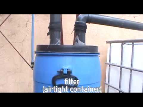 Simple Rainwater Harvest With Filtering System Youtube