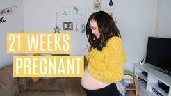 21 WEEKS PREGNANT - MARK FELT BABY MOVE & NEW SYMPTOMS - PREGNANCY UPDATE