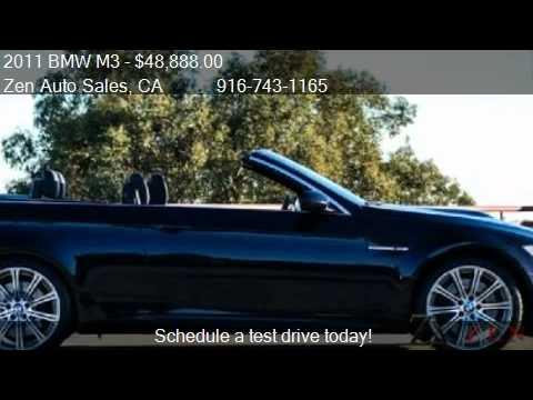 2011 BMW M3 E93 Hardtop Convertible  for sale in Sacramento  YouTube