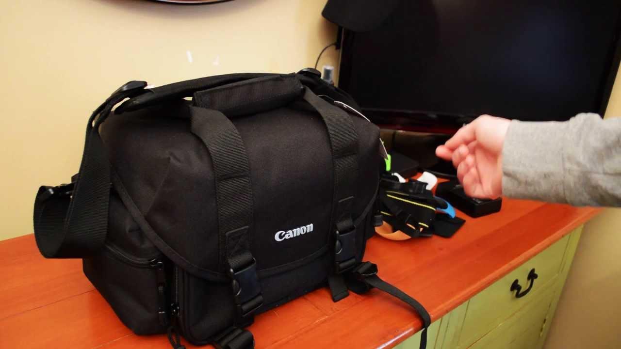 Canon Camera Bag - YouTube