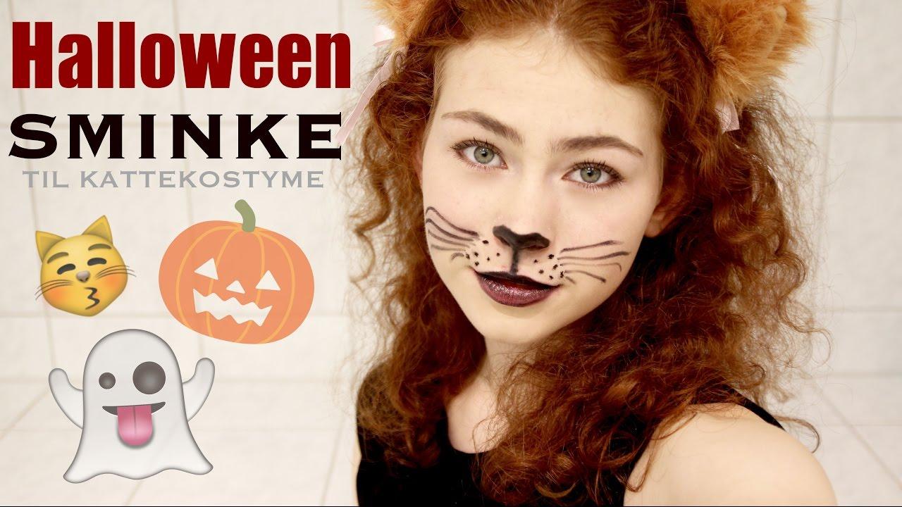 Skummel Halloween Sminke.Halloween Sminke Katt