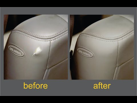 Vinyl Leather Tear Repair Kit Demonstration Video