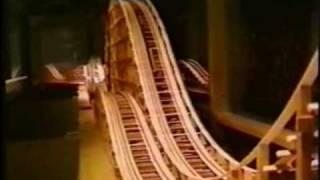 Wooden Roller Coaster Model