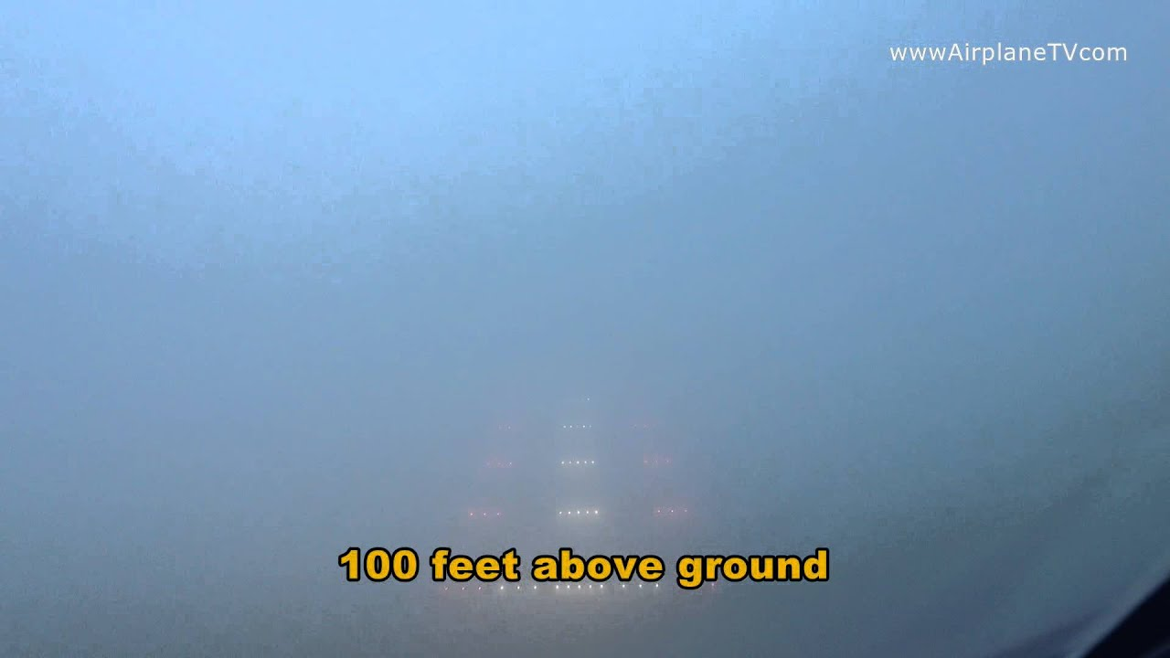 Airbus A320 autoland ILS CAT III RVR 300. very low visibility landing - YouTube