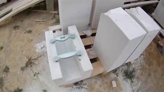 видео Пеноблоки 200х300х600 сколько штук в кубе