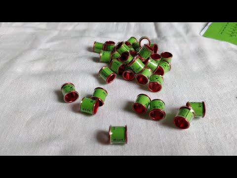 Home made Pigeons rings under $0.05 cost - Step by step tutorial
