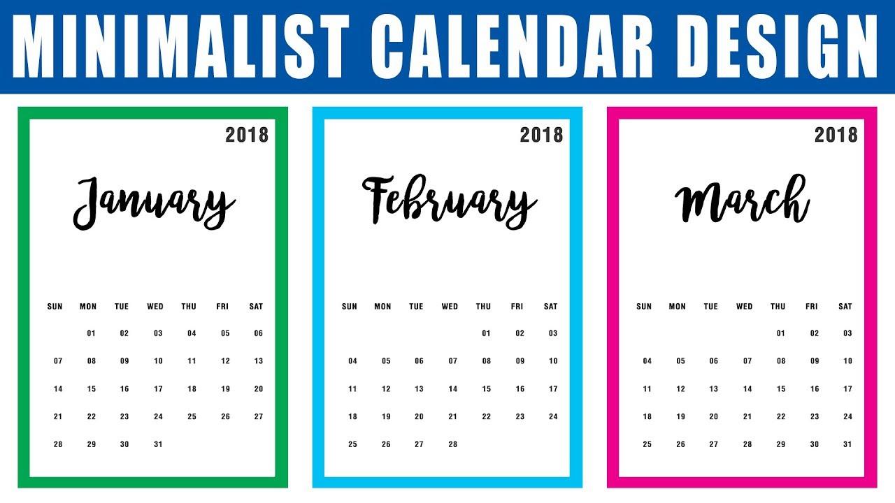 Calendar Design Tutorial : How to make a calendar in photoshop cc design