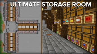 Minecraft Storage Room with Automatic Sorting System - 2 Million Item Capacity